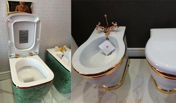 Toilet dát vàng có giá vài trăm triệu đồng.