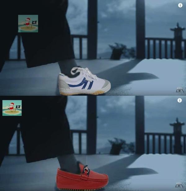 Tương tự với đôi giày màu trắng hay đỏ.