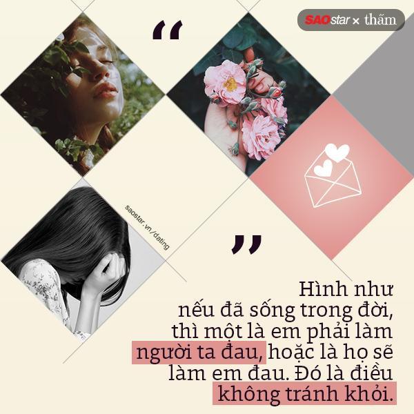 Quan trọng là, bạn chọn bị đau hay làm người khác đau? Tình cảm là như vậy, từ chối người bạn không yêu là làm người ta đau, bị từ chối bởi người bạn yêu thì bạn sẽ đau.