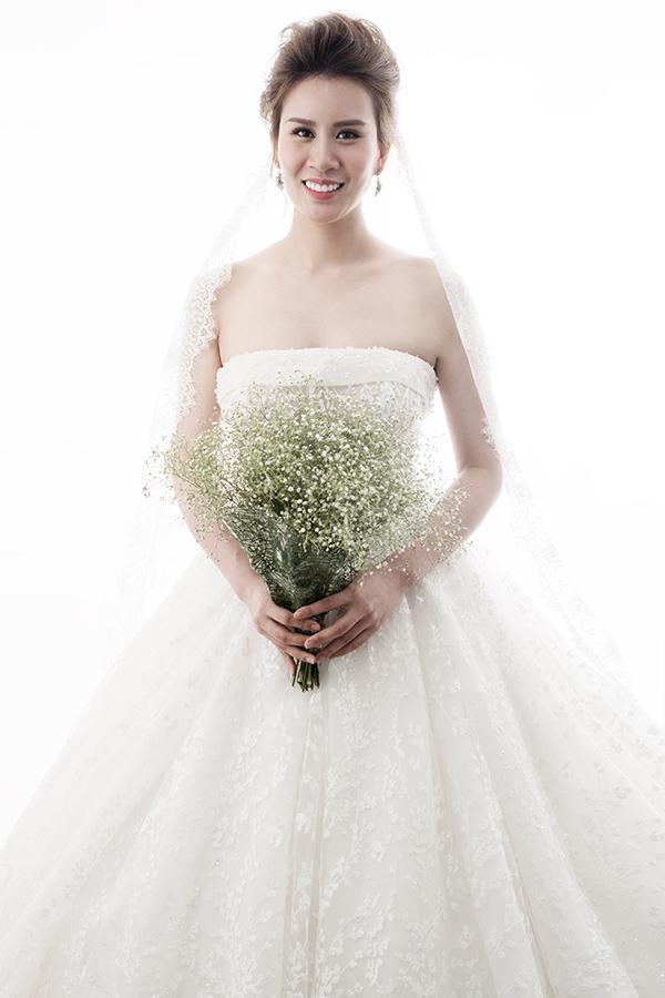 Cô dâu Ngọc Hương vô cùng xinh đẹp.