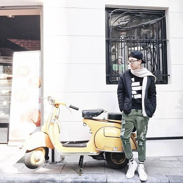 Cậu bạn Vũ Trung Ninh dễ thương ngoài đời thường.