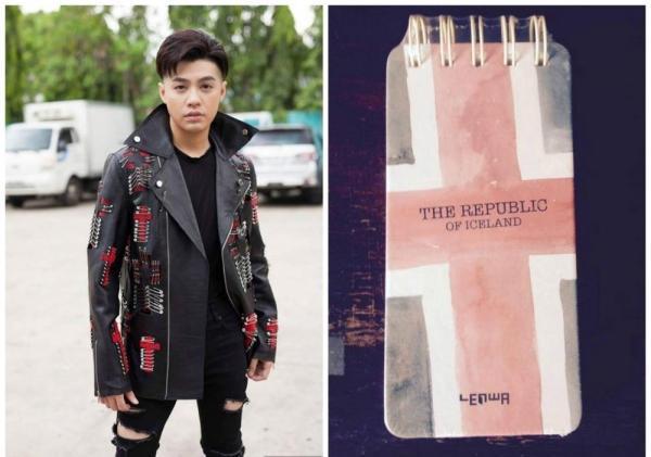 Những chiếc ghim băng trên áo khoác của Noo Phước Thịnh rất giống với thánh giá.