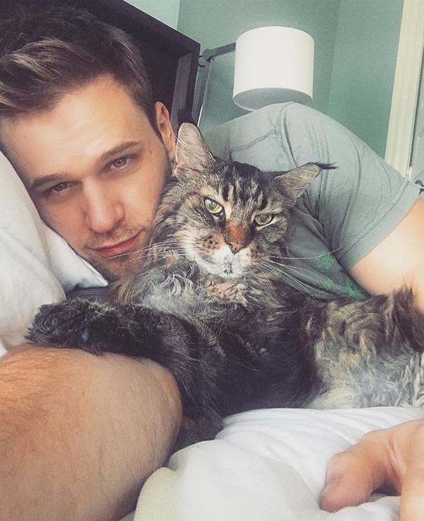 Đây là chú mèoTeddy Rosevelt của anh chàng.