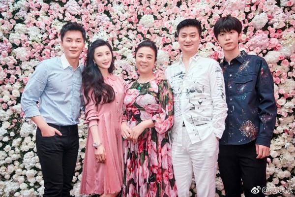 Lý Thần cùng gia đình Phạm Băng Băng hôm 16/9.