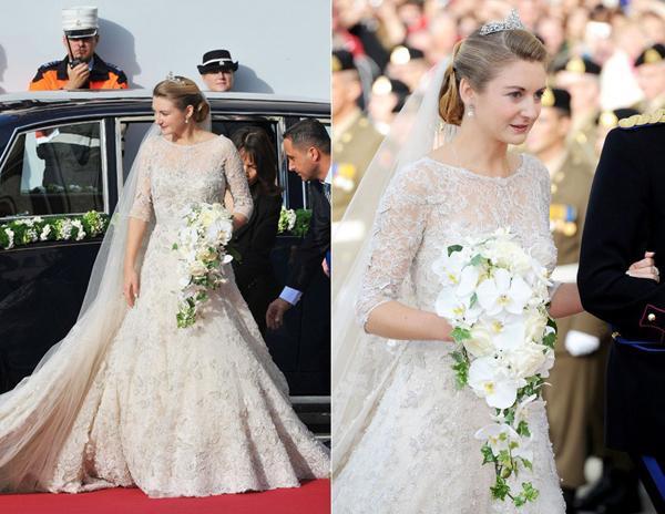 Những chiếc váy cưới lộng lẫy, tinh xảo khiến người mặc trở thành 1 nàng công chúa là điều khiến nhà mốt này trở thành sự lựa chọn hoàn hảo trong các đám cưới hoàng gia, đơn cử như đám cưới của công nương Bỉ trong năm 2012.