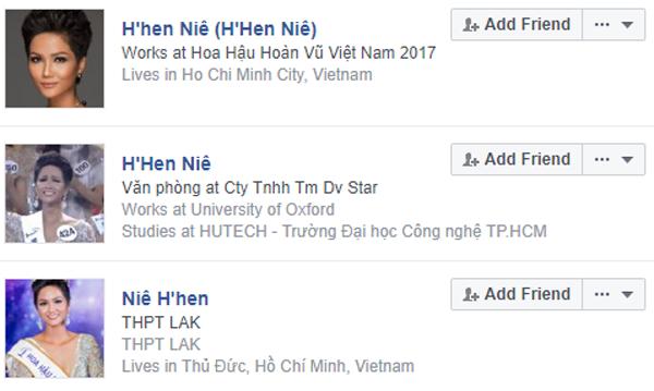 Các tài khoản mạo danh H'Hen Niê mọc lên như nấm ngay trong đêm cô đăng quang ngôi vị Hoa hậu Hoàn vũ.