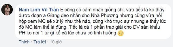 MC Nam Linh hồi hộp khi xem Quý Bình xử lý tình huống.