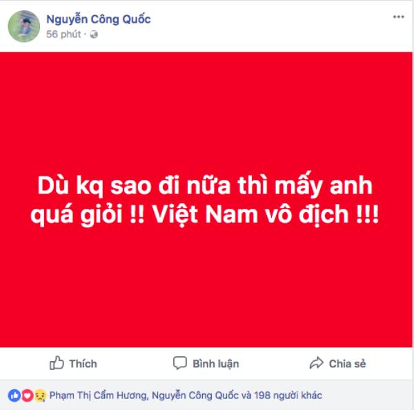 Công Quốc dành trọn sự ngưỡng mộ cho U23 Việt Nam.
