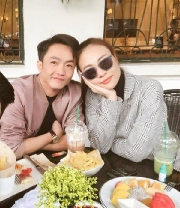 Bức ảnh hiếm hoi mà Cường Đô La và Đàm Thu Trang chụp cùng nhau.