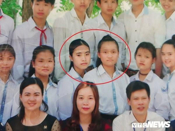 Gia đình đã tìm thấy hai nữ sinh Oanh và Quỳnh.