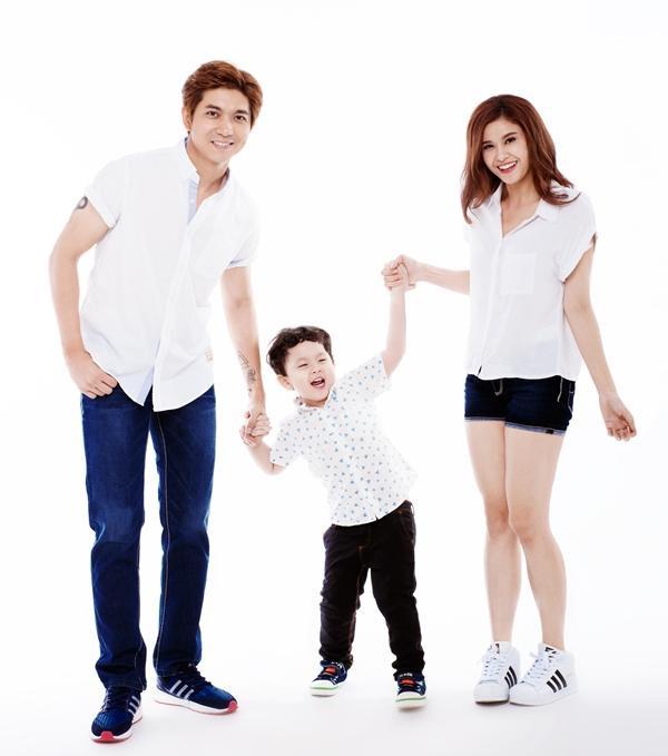 Gia đình Tim và Trương Quỳnh Anh thuở còn hạnh phúc.
