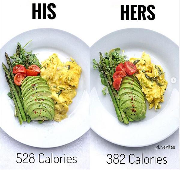 Hãy tập trung chú ý những ngày ăn bình thường để không nạp dư năng lượng vào những ngày này.