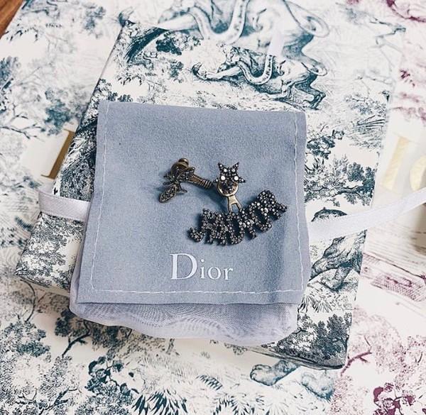 Hoa tai cũng là hàng hiệu Dior