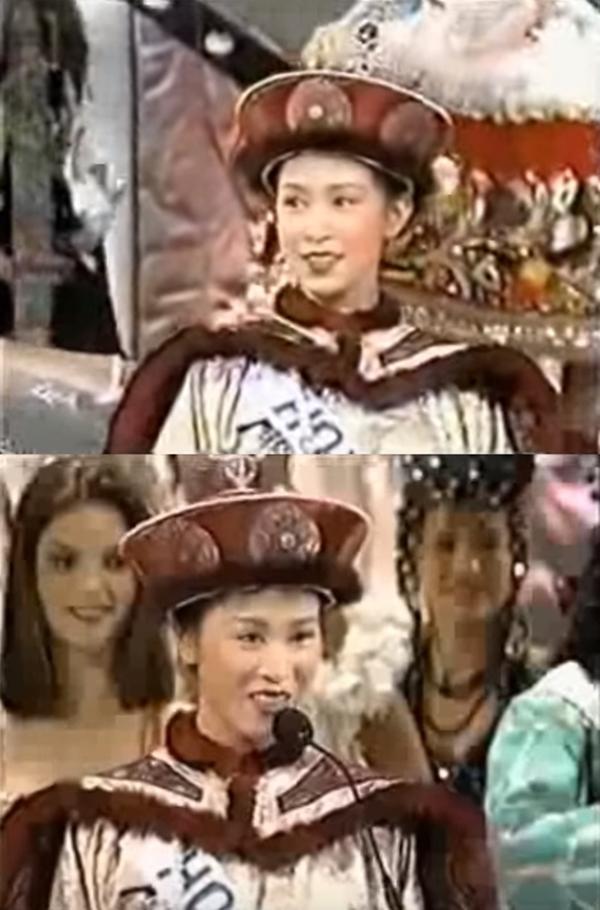 Xa Thi Mạn diện trang phục truyền thống trong phần mở màn.