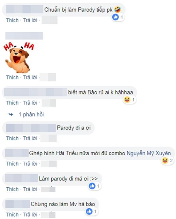 Trang cá nhân của BB Trần ngập tràn yêu cầu anh chàng mau chóng thực hiện parody mới.