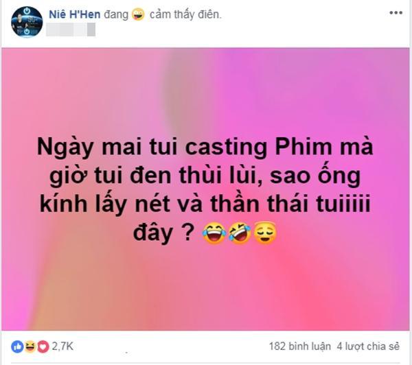 Sự lo lắng đáng yêu của H'Hen Niê trước ngày casting phim.