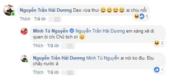 """Hoa hậu Hải Dương duyên dáng bình luận về khả năng """"dẹo"""" của Minh Tú."""