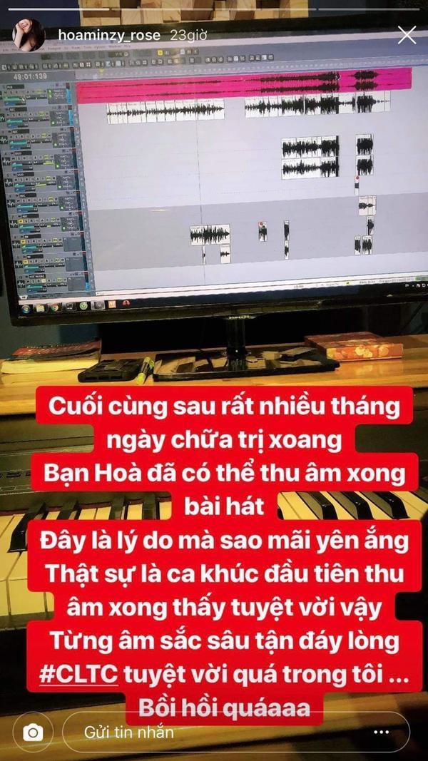 Hòa Minzy thông báo comeback với ca khúc mới.