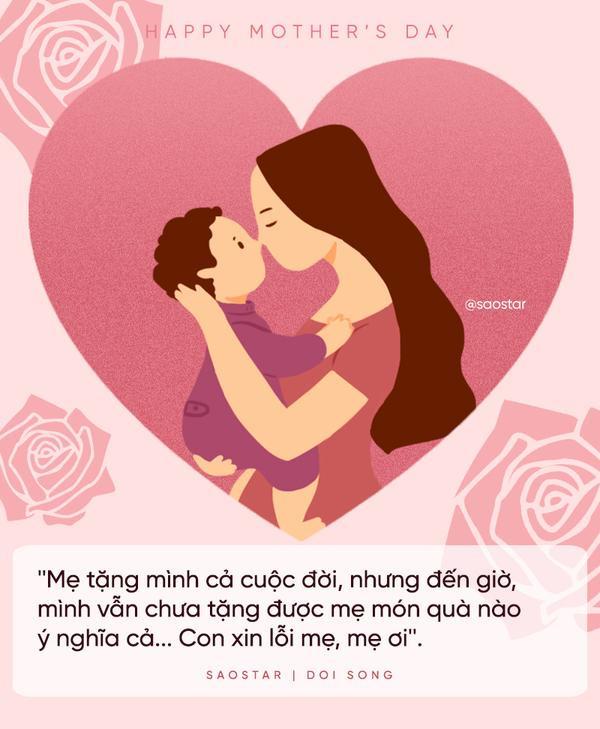 """""""Mẹ tặng mình cả cuộc đời, nhưng đến giờ, mình vẫn chưa tặng được mẹ món quà nào ý nghĩa cả… Con xin lỗi mẹ, mẹ ơi""""."""
