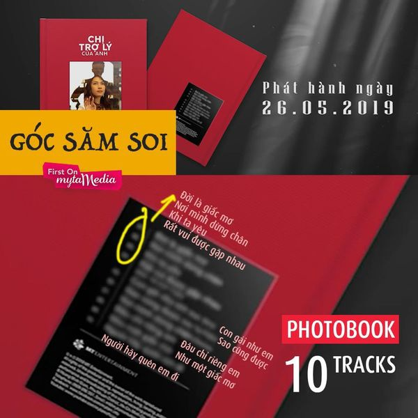 """Hình ảnh các fan """"soi"""" tên ca khúc nằm trong Album dù đã đã được Ekip Mỹ Tâm làm mờ. (Nguồn: Fanpage My Tam Media)"""