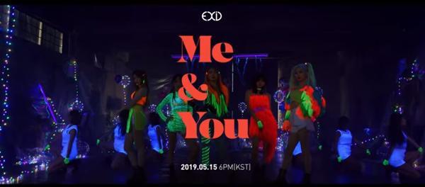 EXID trở lại trong teaser ME&YOU rực rỡ sắc màu neon.