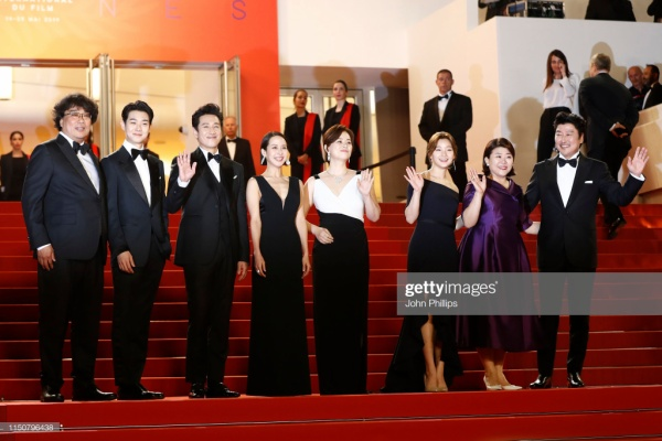 """The main cast """"Parasite"""" landed on the red carpet at the 27th Cannes International Film Festival"""