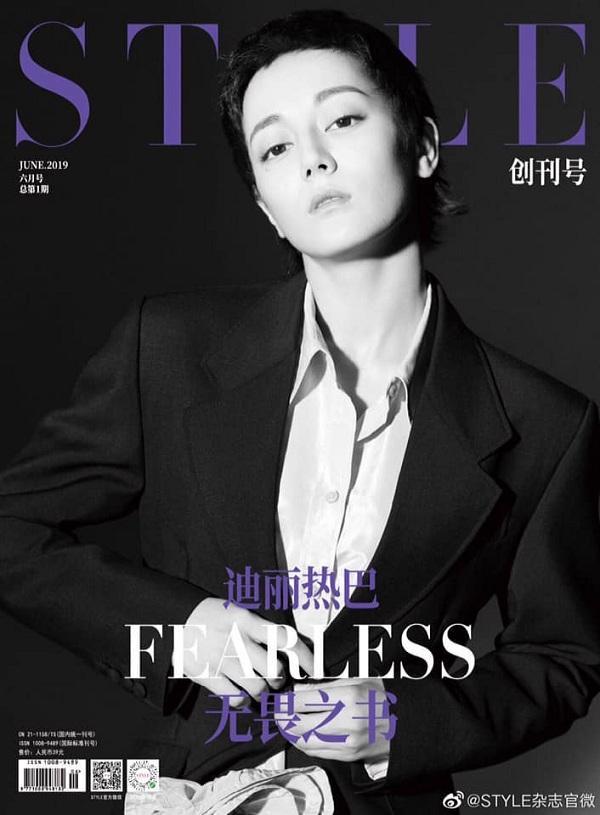 Mái tóc ngắn như đàn ông của Địch Lệ Nhiệt Ba trên tạp chí Style