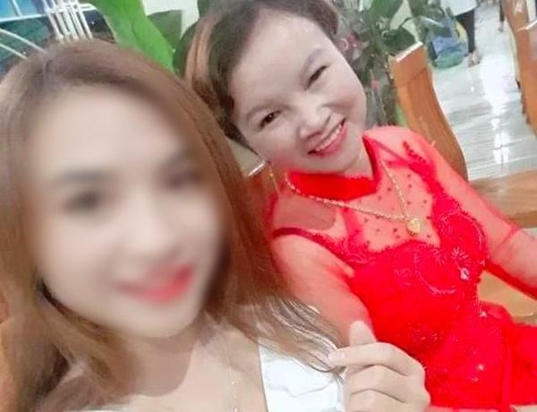 Hình ảnh bà Hiền chụp chung cùng con gái.