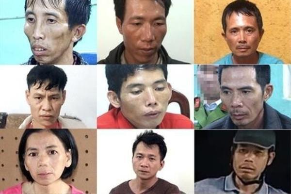 9 nghi can trong vụ án bị bắt giữ.