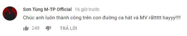 … là bình luận của tài khoản kênh Youtube được cho là của Sơn Tùng M-TP.
