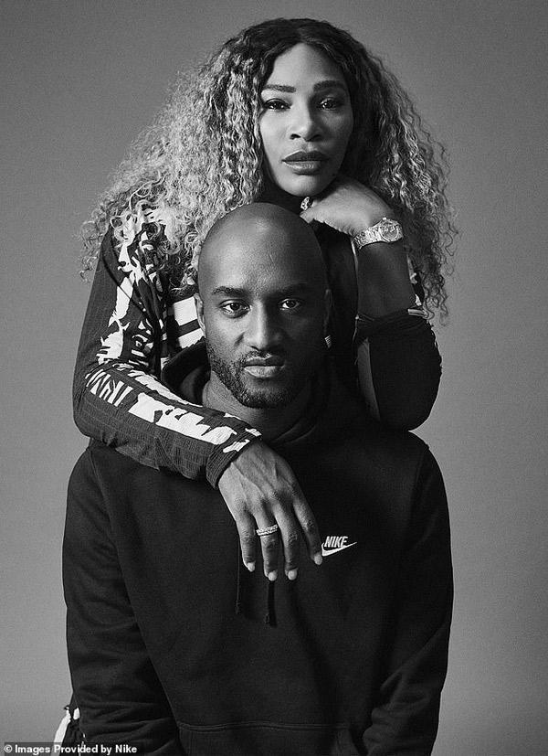 """Vào tháng 8 năm ngoái, NTK Virgil Abloh lừng danh cho giới trẻ và nhóm thiết kế NikeCourt đã thiết kế riêng trang phục thi đấu đặc biệt dành cho Serena Williams với bộ sưu tập """"Queen"""""""