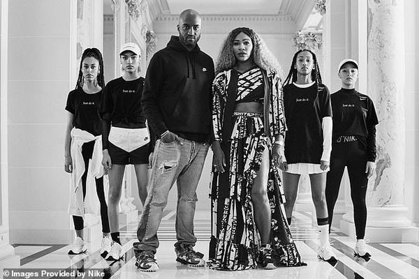 """Nhà thiết kế của Off- White đã chia sẻ một bức ảnh Serena mặc váy tutu trên Instagram với dòng chia sẻ: """"Sẵn sàng để thiết kế trang phục cho cô ấy và cho cuộc sống này."""""""
