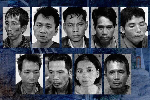 9 bị can trong vụ án nữ sinh Duyên bị sát hại.