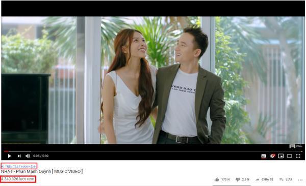 Sau gần 2 ngày lên sóng, MV đã đạt top 1 trending trên Youtube.