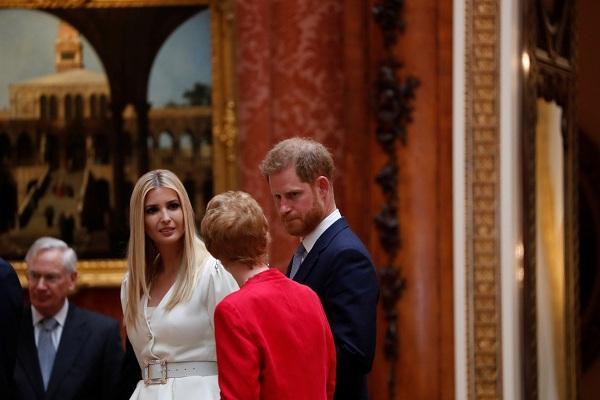 Ivanka Trump đã có dịp diện kiến Hoàng tử Harry