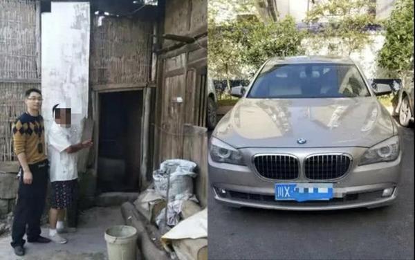 Một đại gia bắt vì tội trộm gà vịt của người dân trong làng đem bán lấy tiền đổ xăng cho siêu xe. Ảnh: Guancha.cn