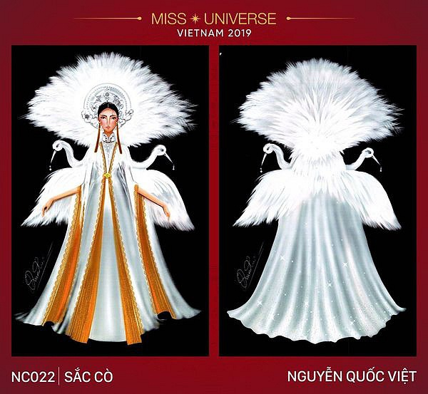 """Bộ trang phục bị cho là sao chép ý tưởng từ bộ """"Tiên Dung"""" của Á hậu Thùy Dung."""