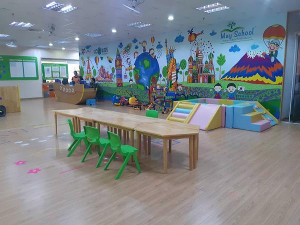 Phòng học nơi xảy ra sự việc.