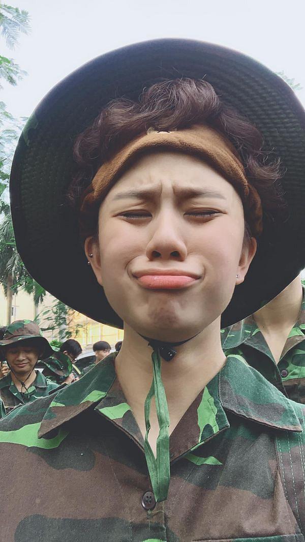 Bảo Hân hiện đang tham gia khóa học quân sự tại khu Hòa Lạc.