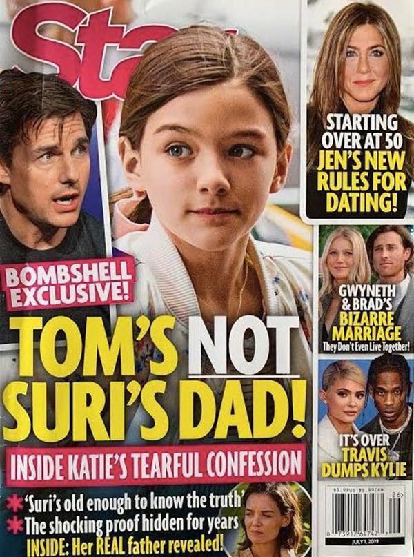 Để làm thêm tính xác thật thì tờ báo này còn nói rằng sau khi nghe mẹ tiết lộ thì Suri đã bị sốc và còn mất bình tĩnh đến mức nói những lời không hay với mẹ