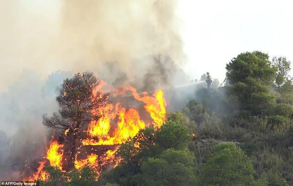 Tại Tây Ban Nha, một trận cháy rừng lớn ở phía đông bắc bùng phát từ một đống phân gà rồi vượt quá tầm kiểm soát và dai dẳng tới ngày thứ 3 liên tiếp cho đến hôm 28/6.