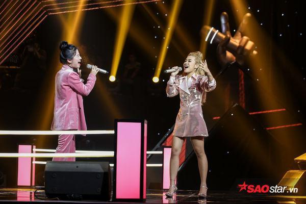 Cathy Nguyễn và Lâm Bảo Ngọc tại vòng Đối đầu.