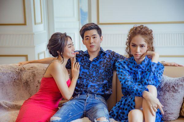 Hương Giang cùng các bạn diễn trong MV.