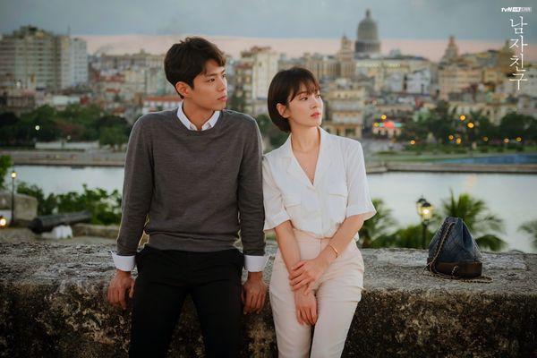 """Park Bo Gum và Song Hye Kyo trong drama """"Encounter""""."""