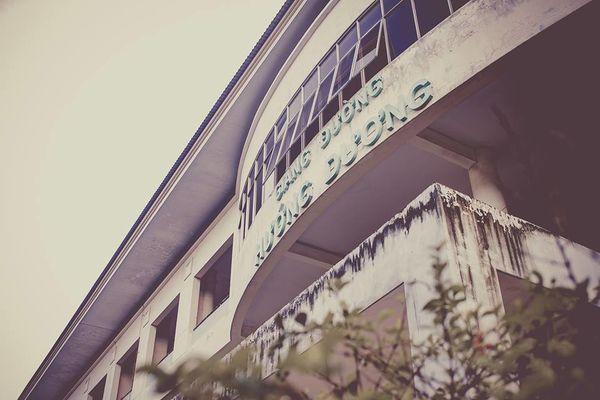 Khu giảng đường mang tên Hướng Dương cũng là một trong những khu giảng đường lâu đời của ĐH Nông Lâm.
