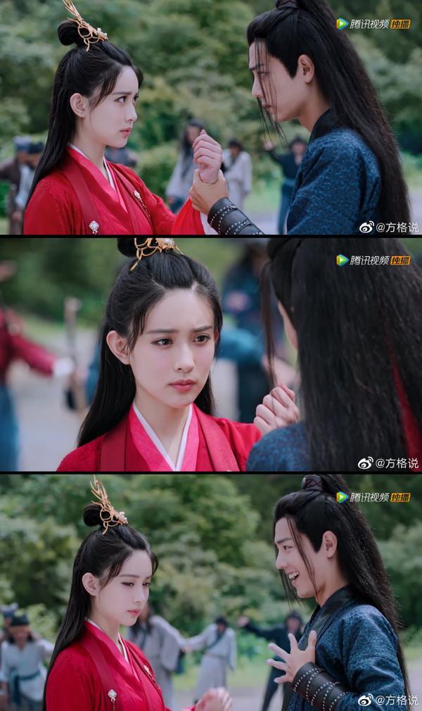 Cảnh Ngụy Vô Tiện bắt lấy tay Ôn Tình trong phim.