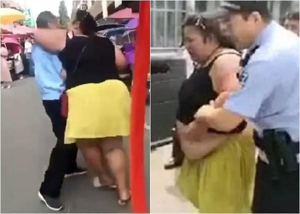 Cô gái ôm hôn người đàn ông lạ trên phố và bị cảnh sát bắt giữ.