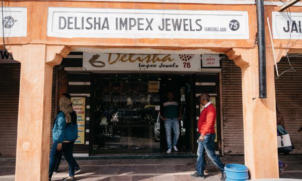 Một trong số các cửa hàng bán trang sức tại Jaipur.