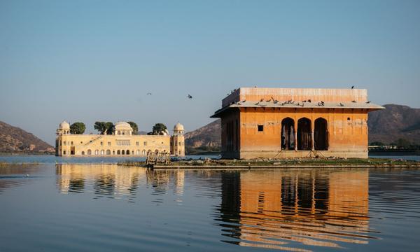 Jal Mahal (Cung điện Nước) ở Jaipur, Ấn Độ.