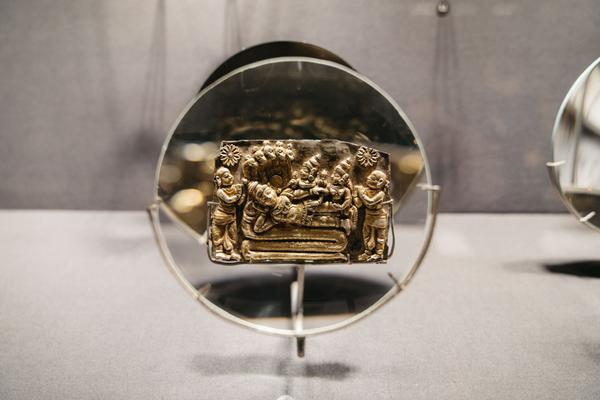 Triển lãm trưng bày đồ trang sức có tuổi đời hàng trăm năm tại Bảo tàng Amrapali, thành phố Jaipur.